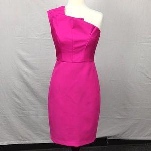Ted Baker Fuchsia Charlia One Shoulder Dress